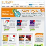 25% off Storewide - All Books & eBooks - Xmas Sale Ends Soon @ Elsevier Health