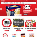 50% off All Lynx, Drumsticks $3.99, 2m Noodles 12pk $4.50, Cottees Cordial 1L $2.49 +More @ Coles