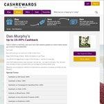 Cashback on Dan Murphy's Wines Increased to 10% @ Cashrewards
