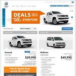 VW Amarok from $36,990 (MY15 4x2) or $39,990 (MY15 4x4) Drive Away with Free Auto @ Volkswagen