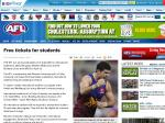 5000 Free AFL Tickets for International Students, Melbourne Vs Brisbane Lions, MCG, April 24