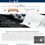 Ties, Bow Ties & Pocket Squares from $19.95, Cufflinks from $4.95 | 10%-12% off Any Order & Free Gift $50+ Spend @ AusCufflinks
