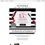 15% off Store Wide Sephora (Online Only)