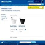 Elho Planter Pots 47cm Wide - $19.00 @ Masters