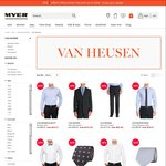 50% off Van Heusen Shirts & Ties, 40% off Van Heusen Suits @ Myer