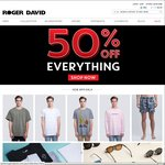 Roger David - 50% off Everything Storewide Instore and Online