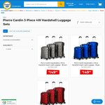 COTD - Pierre Cardin 3 Piece Hardshell Super Light Luggage for $149 + Shipping