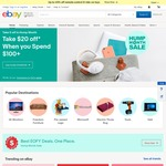 eBay 15% off Sitewide (Min $75 Spend, Max $300 Discount)