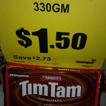 IGA Blaxland NSW - $1.50 Value Pack Tim Tams 330g