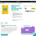 Optus Prepaid Mobile Broadband $30 Sim 14GB (30 Days) - $10
