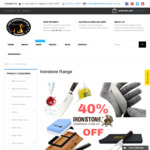 """Ironstone BBQ Range - Take 40% off on Discounted Prices - Gloves + Knife Sharpening Stone + Chefs Knife 8"""" - @ ThePerfectSteak"""