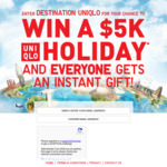 Win a $5000 Holiday + $10 or $20 Voucher off Next Online Purchase (Min Spend $50) from UNIQLO