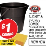 Bucket & Sponge Combo $1 @ Supercheap Auto