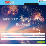 BYOjet AU | Take $33 off International Return Flights Bookings (PayPal Accepted at 1% Surcharge)