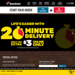 """New Yorker 16"""" Pizzas $14.95 Pickup or $19.95 Delivered @ Domino's"""