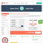 Comodo Positive SSL Wildcard Certificate – US$126 for 2 years Validity @ Cheap SSL Shop