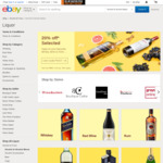 20% off Alcohol, Wine and Spirits from Selected Sellers @ eBay