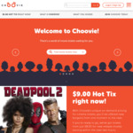 $10 Credit on Choovie Sign up (Credit to Use toward Movie Session Booking)