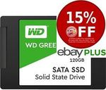 WD Green 120GB SSD $33.25 (With PULL5) (2 for $59.5 with PLUS15)  Delivered @ SE/Futu/Shallothead eBay [eBay Plus Members]