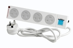 HPM 4 Outlet Surge Protected Child-Safe Powerboard $4.85 @ Bunnings