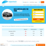 Wipertech Aeroflex Wiper Blades for Holden Cars (Front Pair) $25 Delivered @ Wipertech