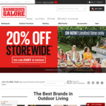 20% off Storewide @ Barbeques Galore