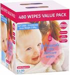 Johnson's 480 Baby Wipes Skincare (6x 80 Packs) $9.97 @ Amazon AU