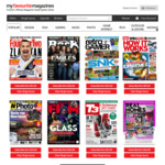 20% off Magazine Issues & Subscriptions @ My Favourite Magazines