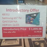 "Samsung - QA65Q6FNA - 65"" Q6 QLED 4K Smart TV $1899.98 @ Costco [Membership Required]"