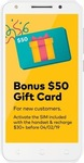 Optus X Spirit 4G Prepaid Mobile Phone $59 (+ $50 Gift Card for New Customers with a $30 Recharge) @ Kmart