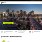 $10 off First Two Rides with Ola Cabs