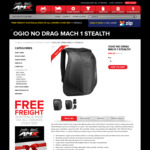 OGIO No Drag Mach 1 Stealth Motorcycle Backpack $99 Delivered @ AMX