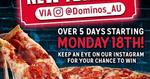 1,000 Free New Yorker Pizza Giveaway (18-22 March) @ Domino's (Facebook Required)