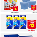 Gillette Blue 2 Razer 3x16 $12 Kinder Choco Bons $1 @ Reject Shop