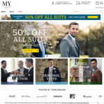50% off Formal Wear, $9.99 Shipping (Free on orders over $150) at Mytuxedo.com.au
