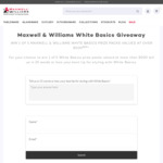Win 1 of 5 Maxwell & Williams White Basics Packs Worth $500 from Maxwell & Williams