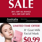 [VIC] Jema Rose 8 + Goat Milk Rejuvenating Facial Mask 25ml $0.99 @ Australia Vitamin Direct Pop up Store at DFO South Wharf
