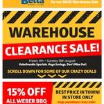 [VIC] 15% off Weber BBQ: Weber Baby Q1200 $250 (Was $349) @ John Alan Beta Electrical Wantirna South