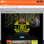 Win 1 of 5 Ryobi ONE+ Power Tool Packs Worth $2,000 from Network Ten
