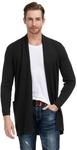 US$9.99 (~AU $14.76) Men's Sweater with Ribbing Edge, US$20.99 (~AU $31.03) Open Front Long Cardigan Free Delivered @ Paul Jones