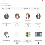 Apple Watch Bands 50% off Including Milanese $7.4, Nylon $6.45, Leather $13.4, Link Bracelet $16.40 Delivered @ iXtra