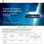 Huawei Battery Replacement $49 (P9/P10, Mate 8/9, Nexus 6P) @ Huawei Service Centres
