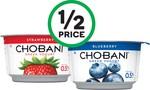 ½ Price Chobani Greek Yoghurt 170gm $1 @ Woolworths
