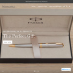Free Engraving (Was $25) & 30% off Parker Pens + Delivery ($0 with $50 Spend) @ Individuated
