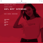 40% off Sitewide and in Store @ Tommy Hilfiger