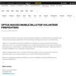 [BF] Optus Waiving Mobile Bills for Dec/Jan for Volunteer Firefighters