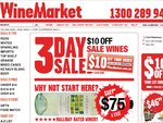 $10 off Wines at Winemarket - 3DAYSALE