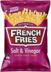 ½ Price French Fries Salt & Vinegar 175gm $1.75 @ Woolworths