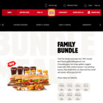 Family Bundle (2 Whoppers, 2 Cheeseburgers, 4 Small Chips, 4 Small Drinks and 10 Nuggets) - $24.95 @ Hungry Jack's