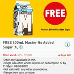 [WA] Free 600ml Masters CHOC No Added Sugar @ 7-Eleven via Fuel App (5/5 to 9/5)